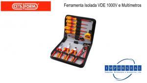 Ferramenta Isolada VDE 1000V e Multimetros